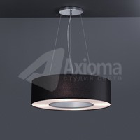 ROTONDA LED, ON / OFF, 3000 K, 5,8 кг, shade chintz black and foil silver/white