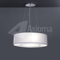 ROTONDA LED, ON / OFF, 3000 K, 8 кг, shade plisse white and chintz white