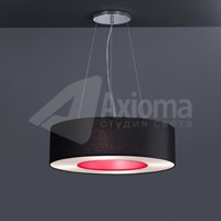 ROTONDA LED, ON / OFF, 3000 K, 12 кг, shade chintz black and foil red/white
